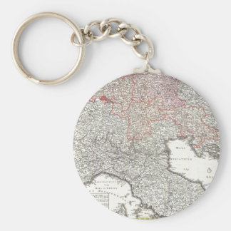 Vintage Map of Northern Italy (1720) Basic Round Button Keychain
