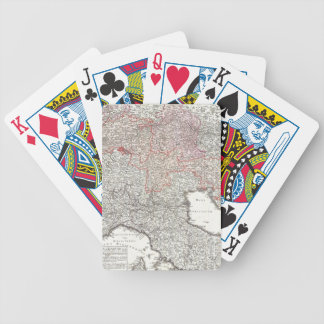 Vintage Map of Northern Italy (1720) Bicycle Playing Cards