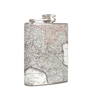 Vintage Map of Northern Italy (1720) Hip Flask