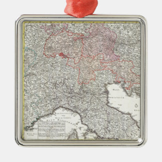 Vintage Map of Northern Italy 1720 Christmas Tree Ornaments