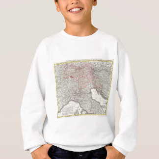 Vintage Map of Northern Italy (1720) Sweatshirt