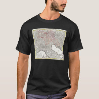 Vintage Map of Northern Italy (1720) T-Shirt