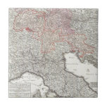 Vintage Map of Northern Italy (1720) Tile