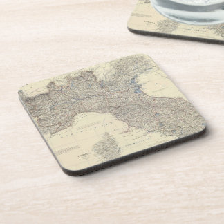 Vintage Map of Northern Italy (1861) Coaster