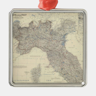 Vintage Map of Northern Italy 1861 Christmas Tree Ornaments