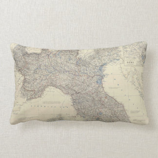 Vintage Map of Northern Italy (1861) Pillows