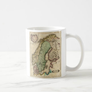 Vintage Map of Norway and Sweden (1831) Mugs
