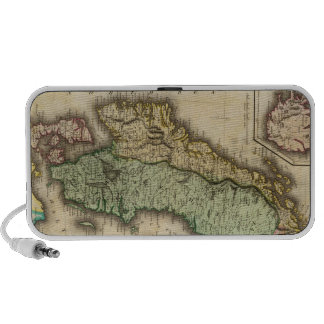 Vintage Map of Norway and Sweden 1831 iPhone Speakers