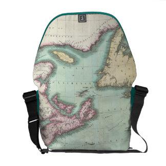 Vintage Map of Nova Scotia and Newfoundland (1807) Courier Bag