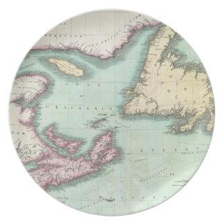 Vintage Map of Nova Scotia and Newfoundland (1807) Plates