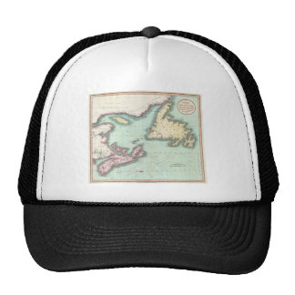 Vintage Map of Nova Scotia and Newfoundland (1807) Trucker Hat
