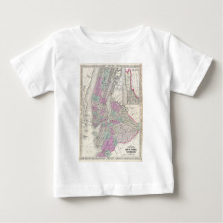 Vintage Map of NYC and Brooklyn (1866) Baby T-Shirt