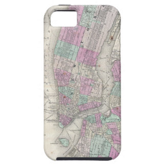 Vintage Map of NYC and Brooklyn (1866) iPhone SE/5/5s Case