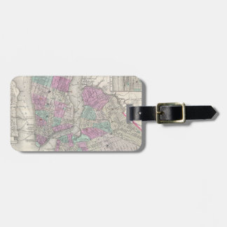 Vintage Map of NYC and Brooklyn (1866) Tags For Bags