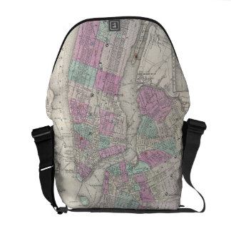 Vintage Map of NYC and Brooklyn 1866 Courier Bag