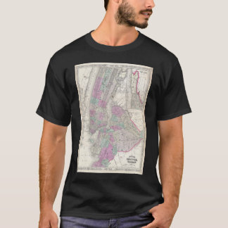Vintage Map of NYC and Brooklyn (1866) T-Shirt