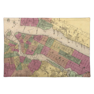 Vintage Map of NYC and Brooklyn (1868) Cloth Placemat