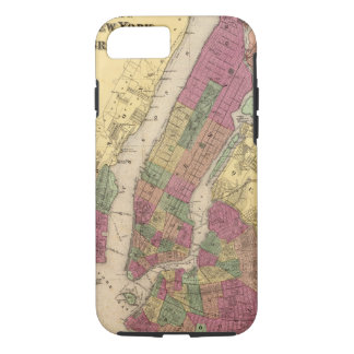 Vintage Map of NYC and Brooklyn (1868) iPhone 7 Case
