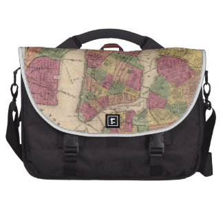 Vintage Map of NYC and Brooklyn 1868 Computer Bag