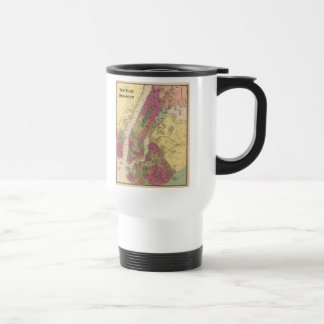 Vintage Map of NYC and Brooklyn (1868) 15 Oz Stainless Steel Travel Mug