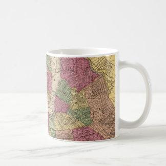 Vintage Map of NYC and Brooklyn (1868) Coffee Mug