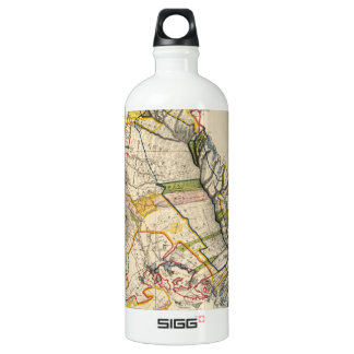Vintage Map of Oahu Hawaii (1906) Aluminum Water Bottle