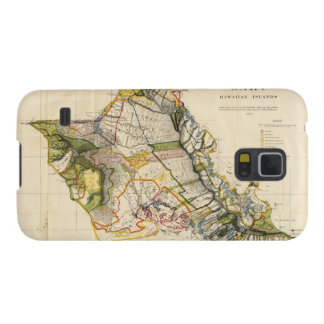 Vintage Map of Oahu Hawaii (1906) Cases For Galaxy S5