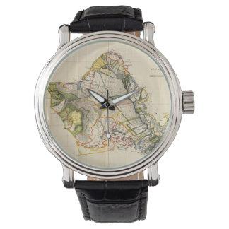 Vintage Map of Oahu Hawaii (1906) Wrist Watch