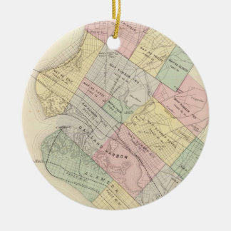 Vintage Map of Oakland California (1878) Ceramic Ornament