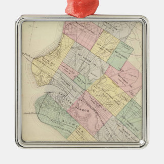 Vintage Map of Oakland California (1878) Metal Ornament