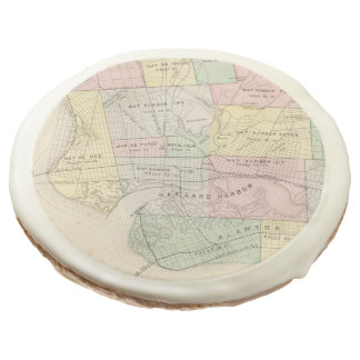 Vintage Map of Oakland California (1878) Sugar Cookie