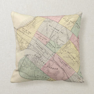 Vintage Map of Oakland California (1878) Throw Pillow