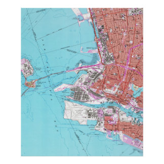 Vintage Map of Oakland California (1959) Poster