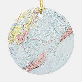 Vintage Map of Ocean City NJ (1952) Ceramic Ornament