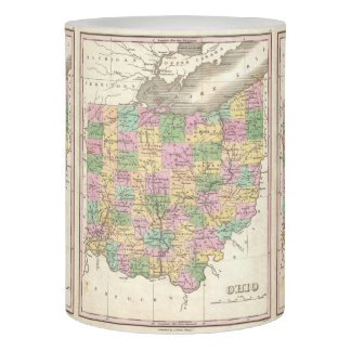 Vintage Map of Ohio (1827) Flameless Candle