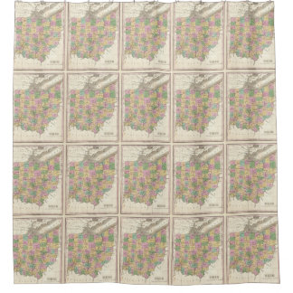 Vintage Map of Ohio (1827) Shower Curtain