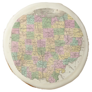 Vintage Map of Ohio (1827) Sugar Cookie