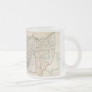 Vintage Map of Ohio (1866) 10 Oz Frosted Glass Coffee Mug