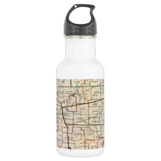 Vintage Map of Ohio (1866) 18oz Water Bottle