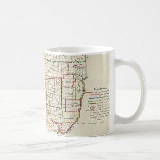 Vintage Map of Ohio (1866) Classic White Coffee Mug