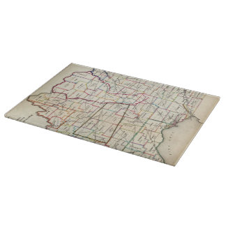 Vintage Map of Ohio (1866) Cutting Board