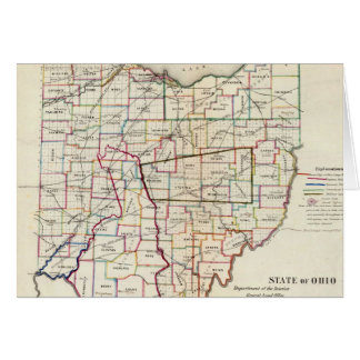 Vintage Map of Ohio (1866) Greeting Card