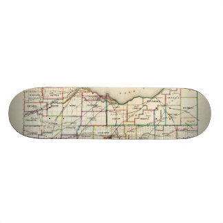 Vintage Map of Ohio (1866) Skateboard