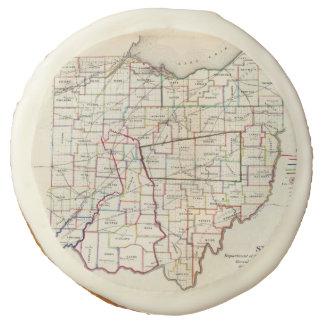 Vintage Map of Ohio (1866) Sugar Cookie