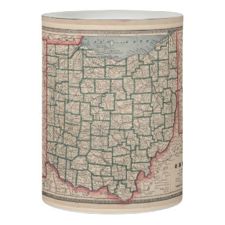 Vintage Map of Ohio (1883) Flameless Candle
