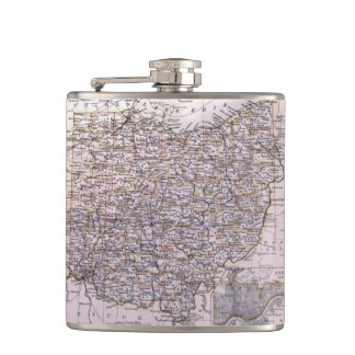 Vintage Map of Ohio (1884) Hip Flask
