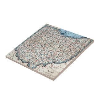Vintage Map of Ohio (1921) Ceramic Tile