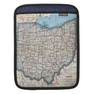 Vintage Map of Ohio (1921) iPad Sleeve