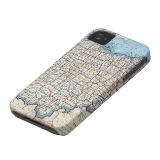 Vintage Map of Ohio (1921) iPhone 4 Covers