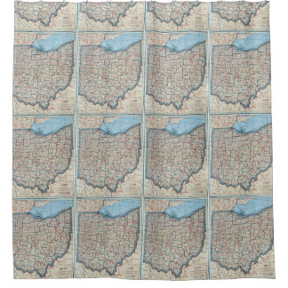 Vintage Map of Ohio (1921) Shower Curtain